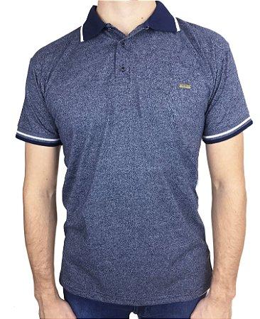 Camisa Polo Azul Jacard Fortman