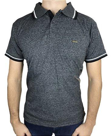 Camisa Polo Cinza Jacard Fortman