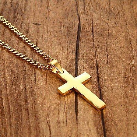 Colar Masculino Crucifixo - Atacado