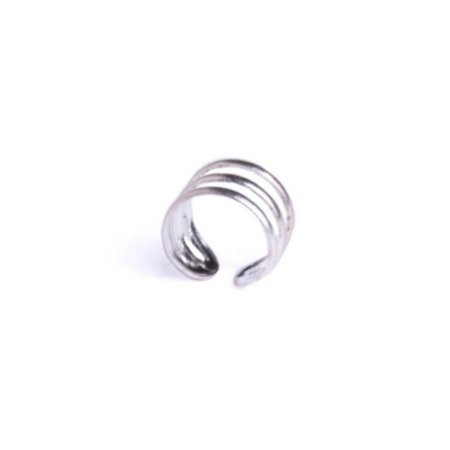 Piercing Encaixe Masculino de Prata 925 Argola Miró - 1 Peça (Não é o par) - Atacado