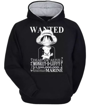 Moletom One Piece - Luffy Wanted -atualizado-