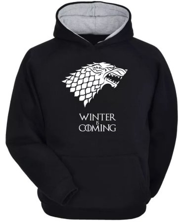 Moletom Game Of Thrones - Stark - Winter Is Coming