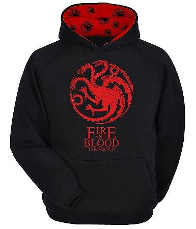 Moletom Game Of Thrones - Targaryen - Fire And Blood