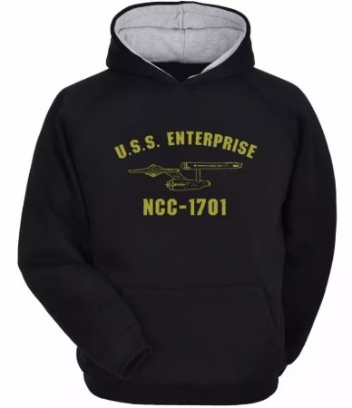 Moletom Star Trek Jornada Nas Estrelas Ncc-1701 Enterprise