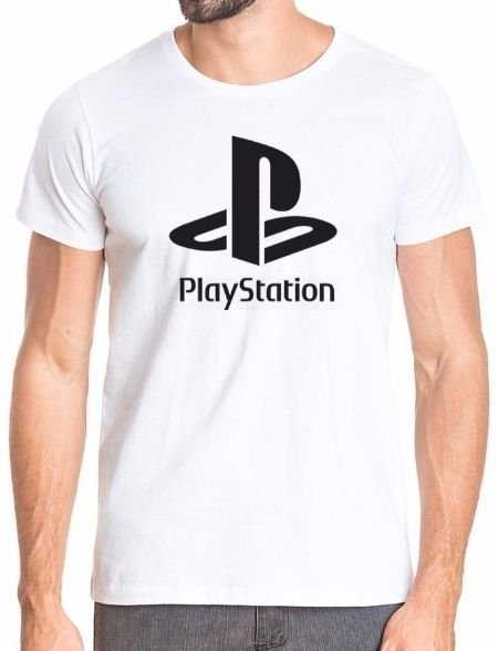 Camiseta Playstation Branca