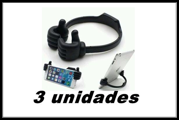 Kit 3 Suport Mãozinha Ipad Celular Tablet Smartphone