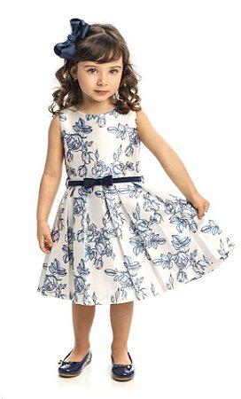 Vestido de Festa  Infantil  Estampado Matinée