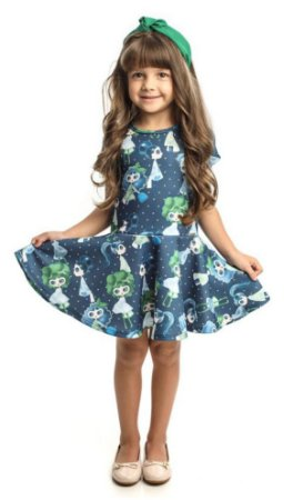 Vestido Infantil  Estampado Matinée