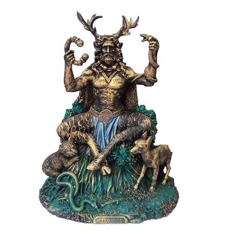 Estátua Deus Cernunnos sentado