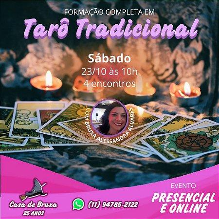 23/10/2021 - Sábado - Curso Completo de Formação Completa de Tarot Tradicional