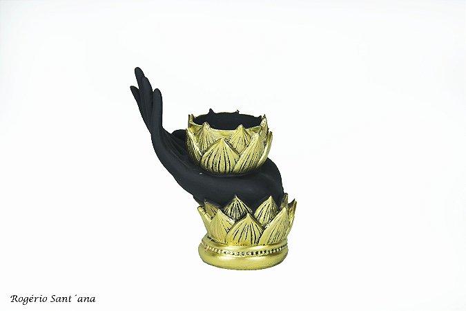 Porta velas Mão de Lotus