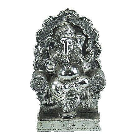 Deus Ganesha Resina Prata