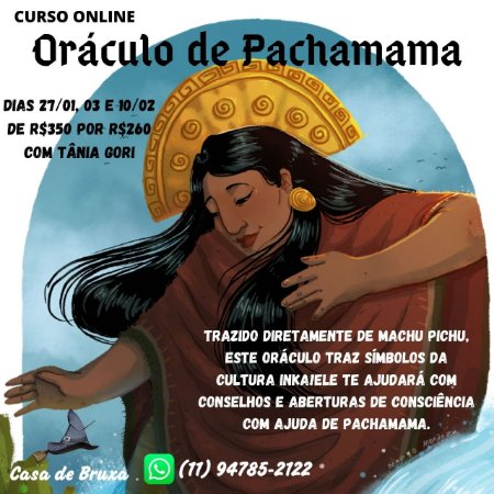27/01/2021 - Oráculo de Pachamama (ONLINE)