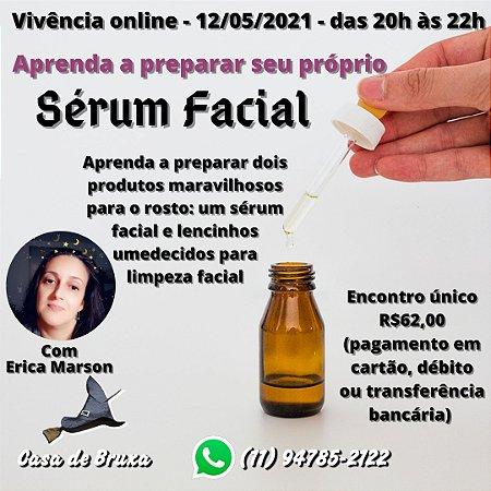 12/05/2021 -  Aprendendo a preparar seu próprio Sérum Facial (ONLINE)