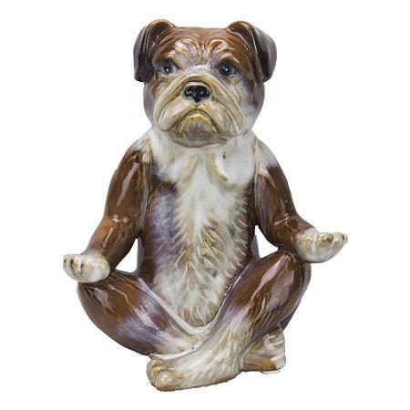 Estátua - Cachorro Meditando