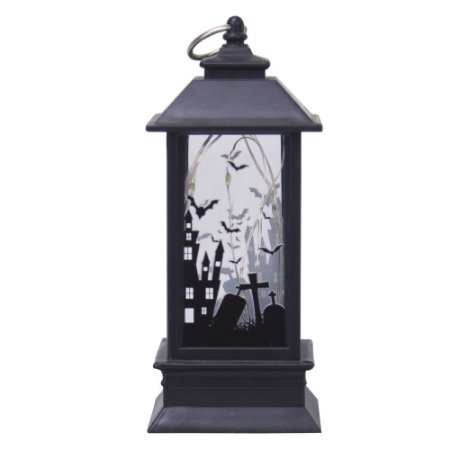 Lanterna Lampião Mini Led Halloween