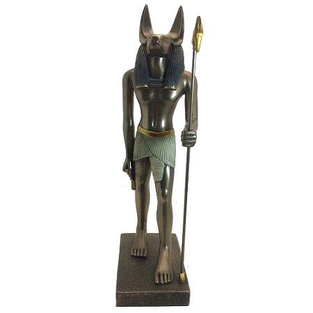 Estátueta Egípcia Chacal Anubis Em Pé