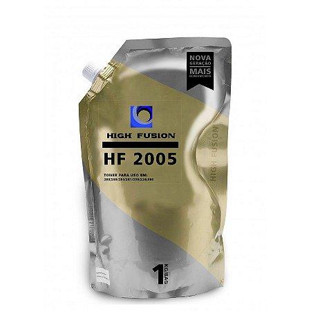 REFIL PÓ DE TONER PARA HP HIGH FUSION HF 2005 UNIVERSAL DE ALTA E BAIXA | PRETO | 1KG