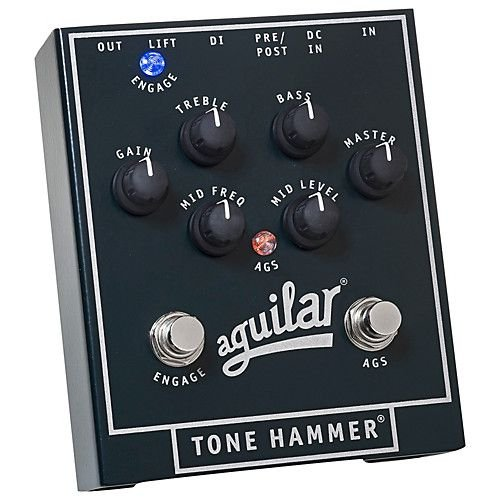 PEDAL AGUILAR Pre Amp Tone Hammer para Contrabaixo
