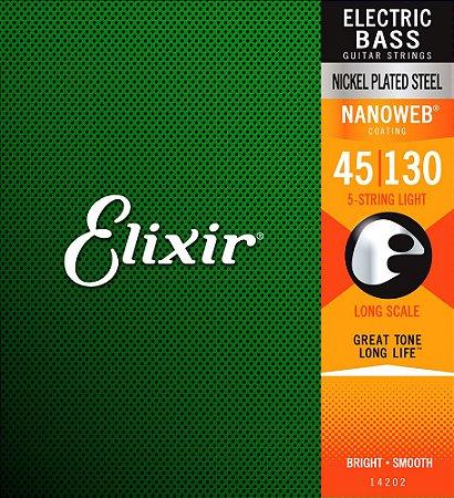 Encordoamento para baixo ELIXIR 5 cordas 0.45 - Só Originais !