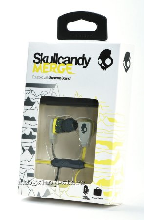 Fone SKULLCANDY In-Ear Supreme Sound Merge Lime and Gray