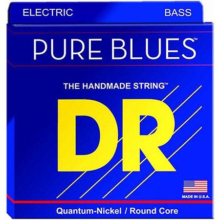 Encordoamento DR STRINGS Pure Blues para Baixo de 5 Cordas .45