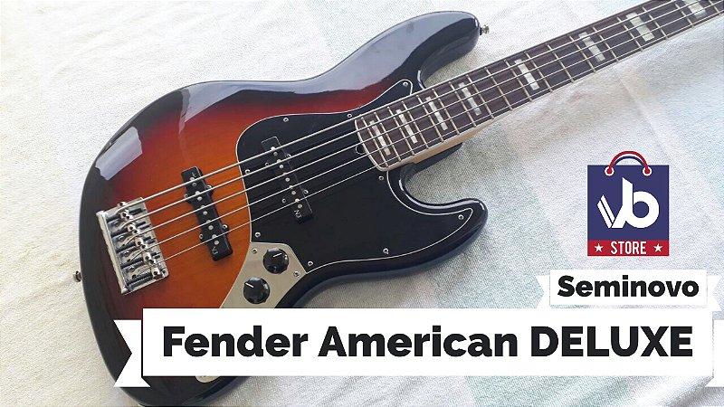 Baixo Fender American DELUXE V Sunburst  (Seminovo) - Ano 2013