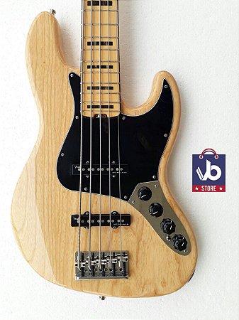 Baixo Fender American ELITE V Natural (Super Novo) - Ano 2016
