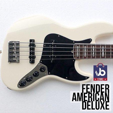 Baixo Fender American DELUXE V White - Ano 2014