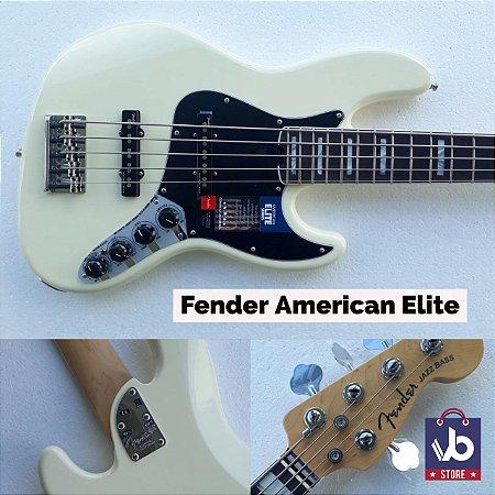 Baixo FENDER American ELITE V White - Ano 2016