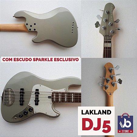 Baixo LAKLAND DJ5 com escudo Sparkle - Hiper Conservado