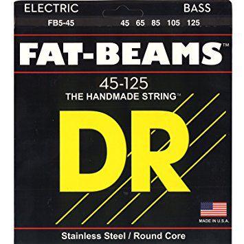 Encordoamento DR STRINGS Fat Beams para Baixo de 5 Cordas .45