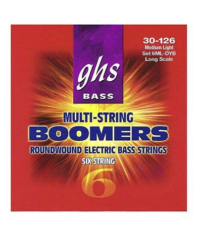 Encordoamento para Baixo 6 Cordas GHS Boomers 30-126