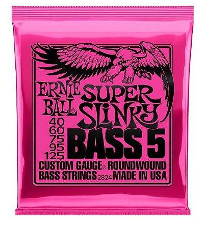 Encordoamento Ernie Ball Super Slink 5 Cordas 0.40 - Originais