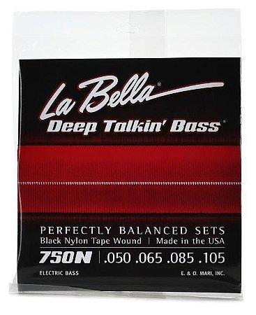 Encordoamento Nylon Black Tape Wound Labella para Baixo 4C 0.50