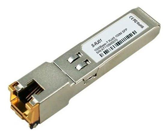 Módulo GBIC SFP S-RJ01 OEM RJ45 10/100/1000M Cooper p/ Mikrotik e outros