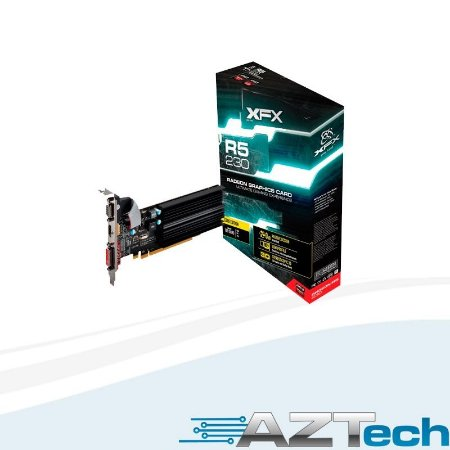 Placa De Vídeo R5 230 1gb Ddr3 Low Profile Xfx R5230azlh2