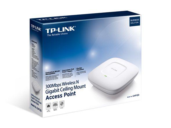 Access Point N300 Gigabit Montável Em Teto Tp-link Eap120
