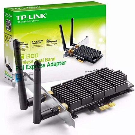 Adaptador Wireless PCI-E x1 Dual Band Ac1300 TP-Link Archer T6E