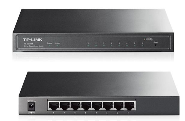 Switch Gerenciável De 8 Portas Gigabit Tp-link Tl-sg2008