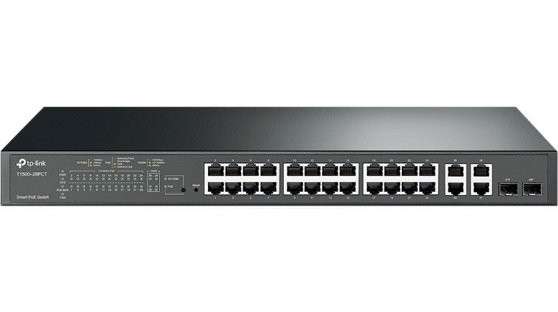 Switch 24 portas POE+ 10/100MB/s 4 portas Gigabit TP-Link T1500-28PCT (TL-SL2428P) 802.3AT/AF