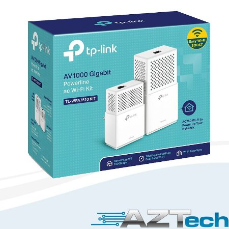 Kit Powerline Tl-wpa7510kit Av1000 Gigabit Wi-fi Dual Band