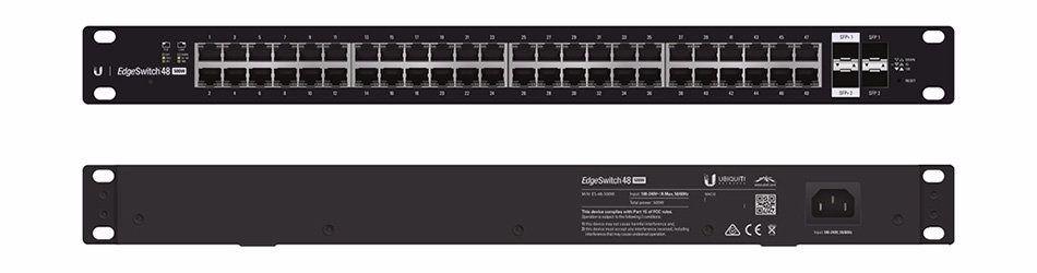 Switch Ubiquiti Es-48-lite-br 48 Rj45 2 Sfp+ Edgemax