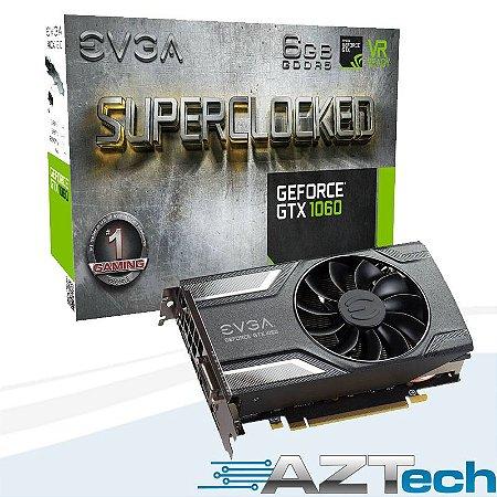 Placa De Vídeo Geforce Gtx 1060 Sc Gaming 6gb Gddr5 Evga