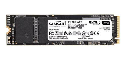 HD SSD M.2 2280 1TB CRUCIAL P1  3D NVME CT1000P1SSD8 INTERNO