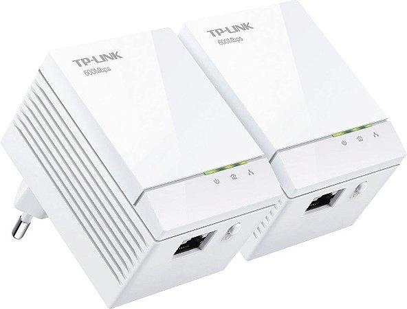 Kit 2 Peças Adaptador Powerline Gigabit Tplink TL-PA6010kit 600mb/s AV600
