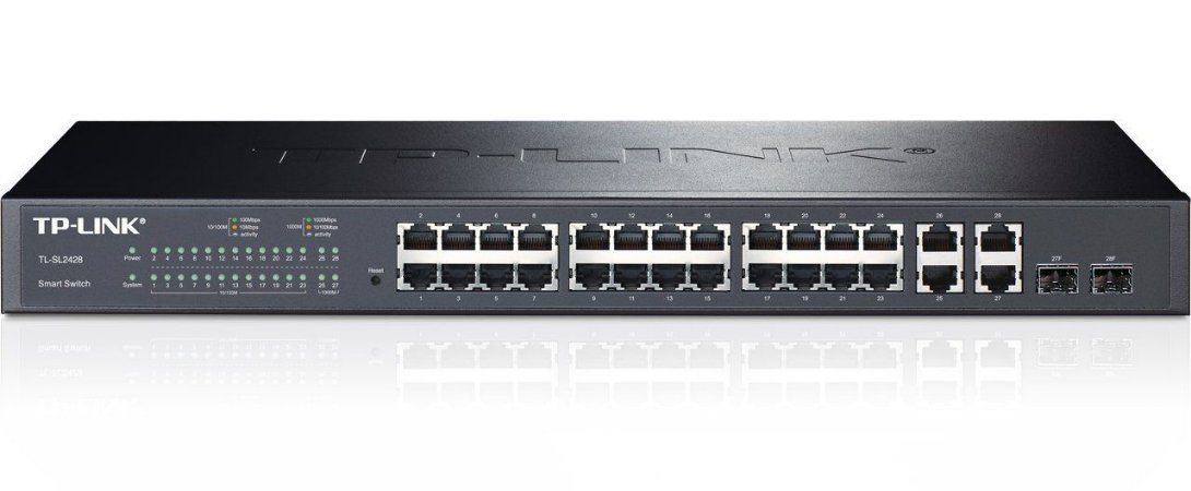 Switch Gigabit Web Smart 24 Portas Tl-sl2428 Tp-link
