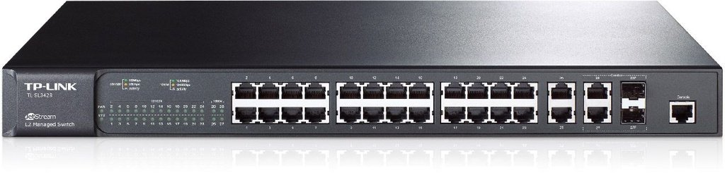 Switch Gigabit Gerenciável L2 24 Portas Jetstream Tl-sl3428