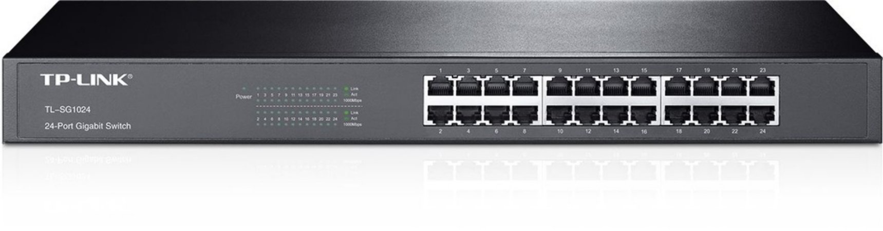 Switch 24p Gigabit C/ Suporte P/ Rack Tplink Tl-sg1024
