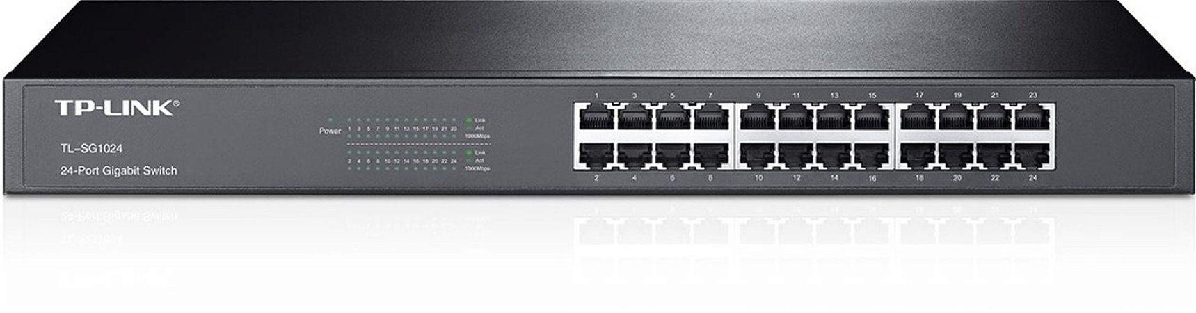 Switch 24 portas Gigabit Rackmount TP-Link TL-SG1024